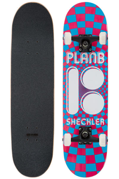 "Plan B Sheckler Optic Mini 7.75"" Complete-Board (red blue)"