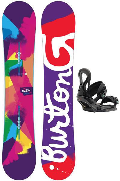 Burton Genie 152cm / Stiletto L Snowboardset women