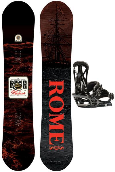 Rome Mechanic 153cm / United G1 M Snowboardset 2016/17