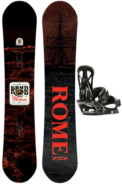 Rome Mechanic 156cm / United G1 L Snowboardset 2016/17