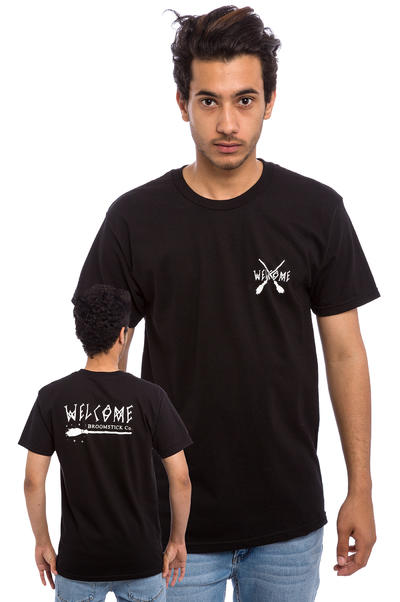 Welcome Broomstick Camiseta (black white)