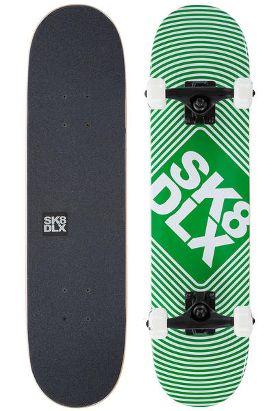 "SK8DLX Square Logo Mini 7"" Tabla-completa (green)"