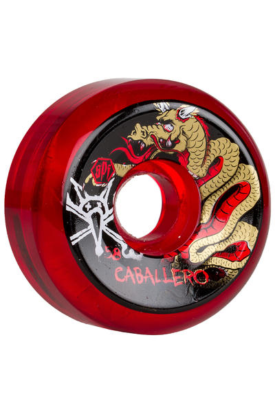 Bones SPF Caballero Cab Dragon 58mm Rollen (clear red) 4er Pack