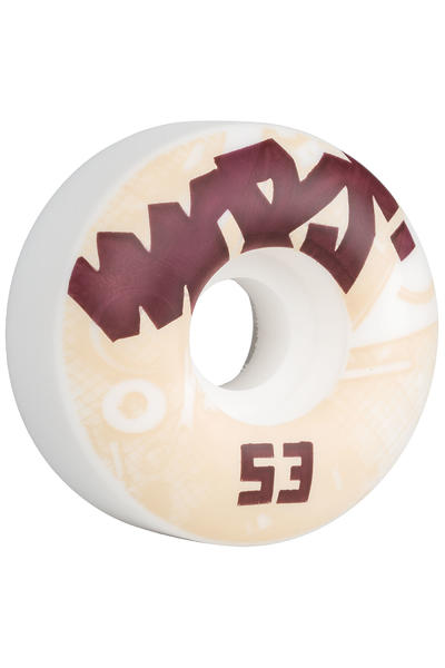 MOB Skateboards Tape 53mm Wheel (white) 4 Pack