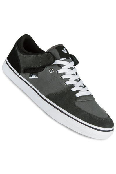 DVS Torey Low Suede Shoe (black grey)