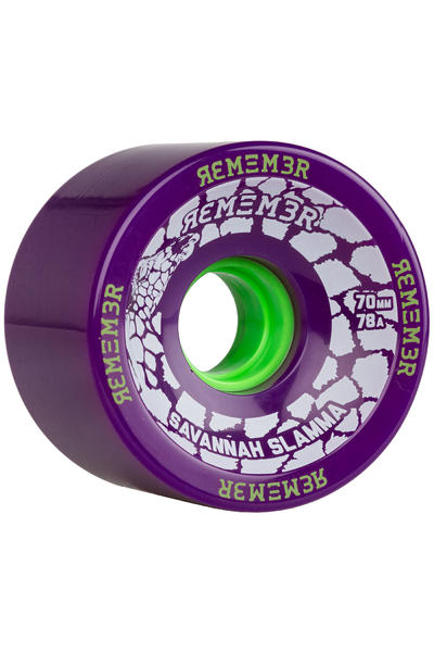 Remember Savannah Slamma 70mm 78A Rollen (purple) 4er Pack