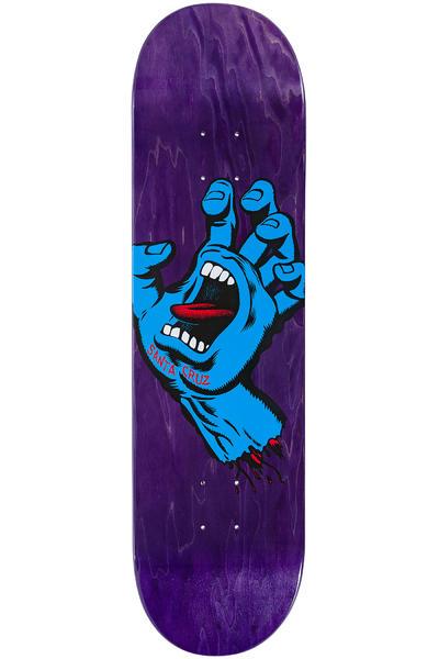 "Santa Cruz Team Screaming Hand Minimal 8.375"" Deck (purple)"