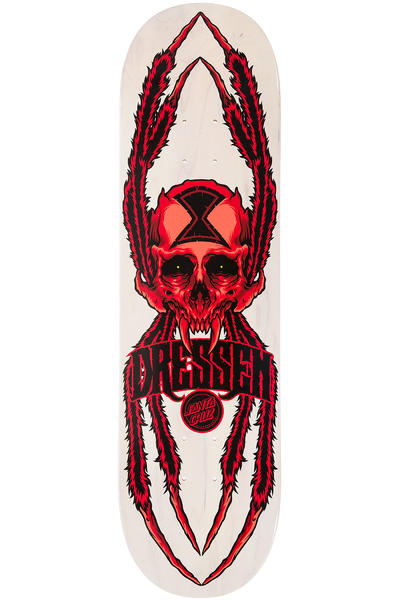 "Santa Cruz Dressen Widow Skull 8.6"" Deck (white red)"