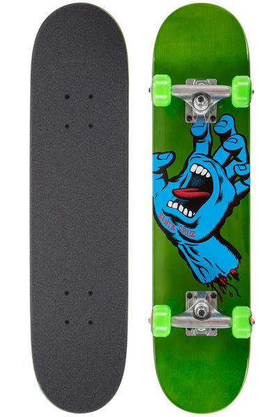 "Santa Cruz Screaming Hand Minimal Micro 6.75"" Komplettboard (green)"