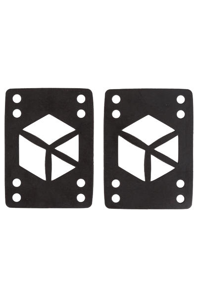 "Loaded 1/8"" Rectangle Riser Pad (black) 2er Pack"