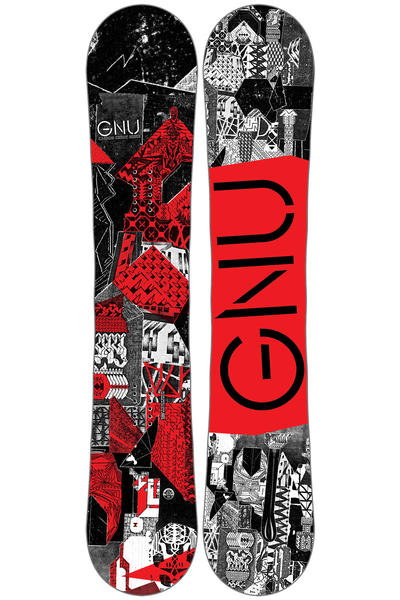 Gnu Carbon Credit 156cm Wide Snowboard 2016/17