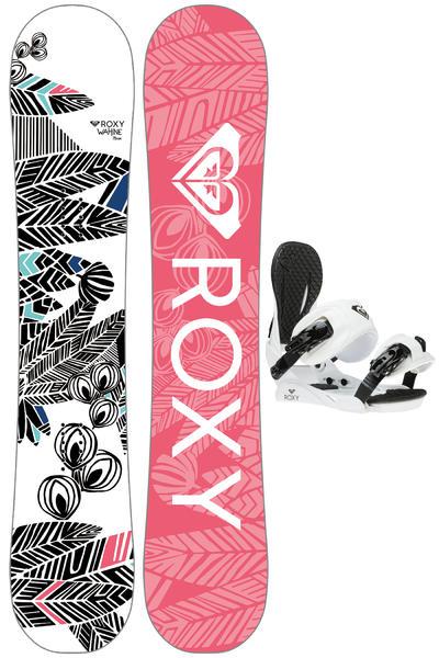 Roxy Wahin 146cm / Binding S/M Snowboardset 2016/17 women