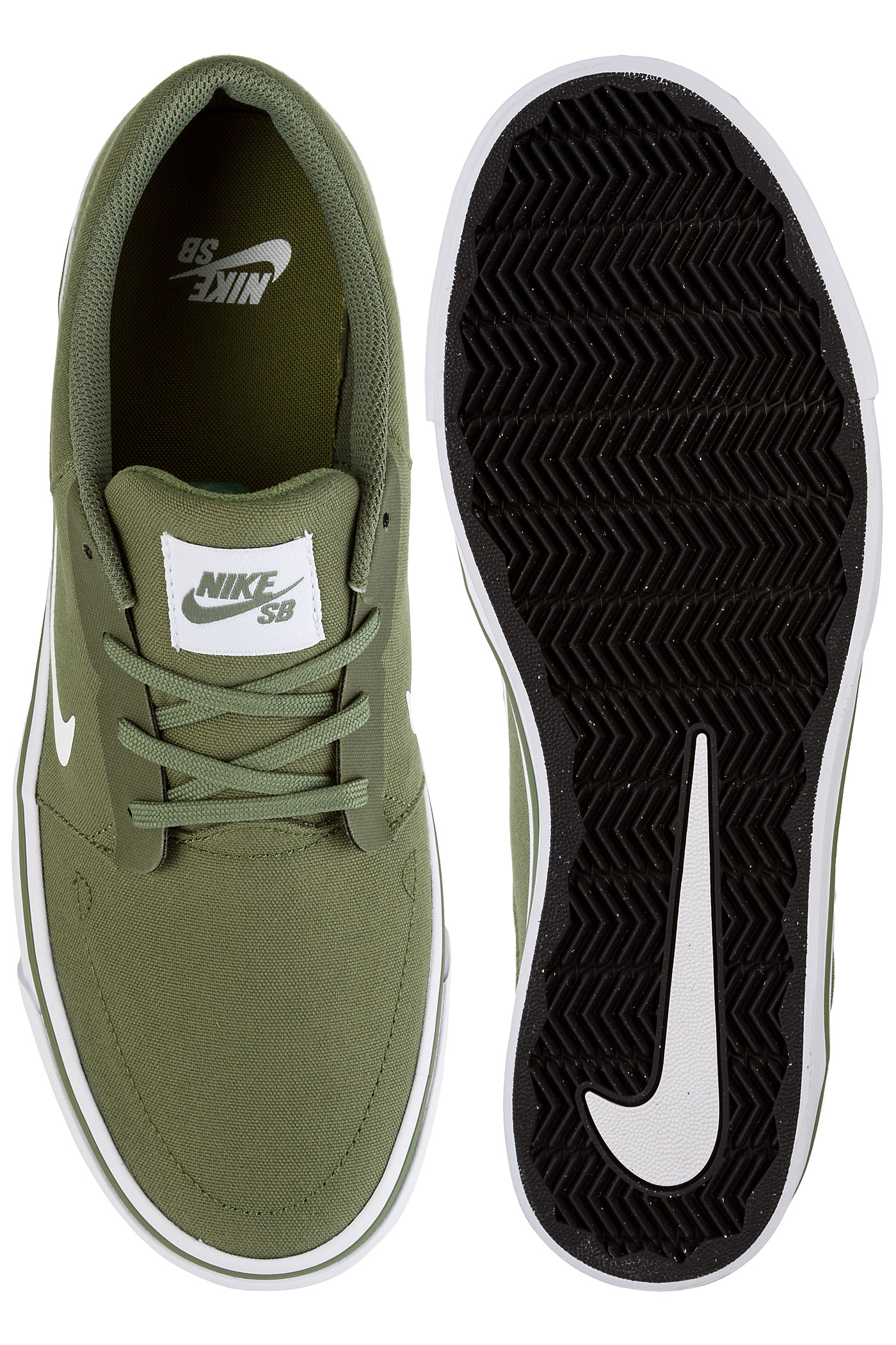 new photos 52e6b 288ee ... Nike SB Portmore Canvas Shoes (palm green white) ...