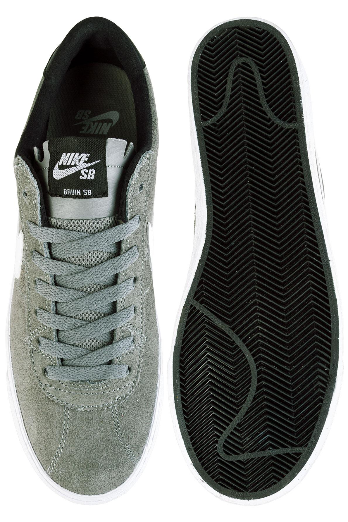 Nike Sb Bruin Premium Skate Shoes Tumbled Grey White White Black