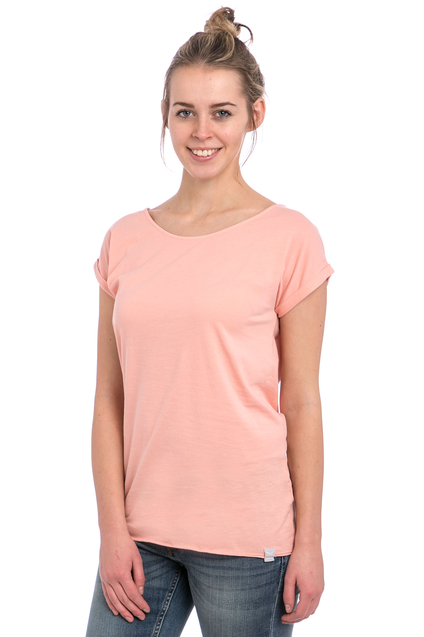 iriedaily vintage loose t shirt women salmon wash buy at. Black Bedroom Furniture Sets. Home Design Ideas