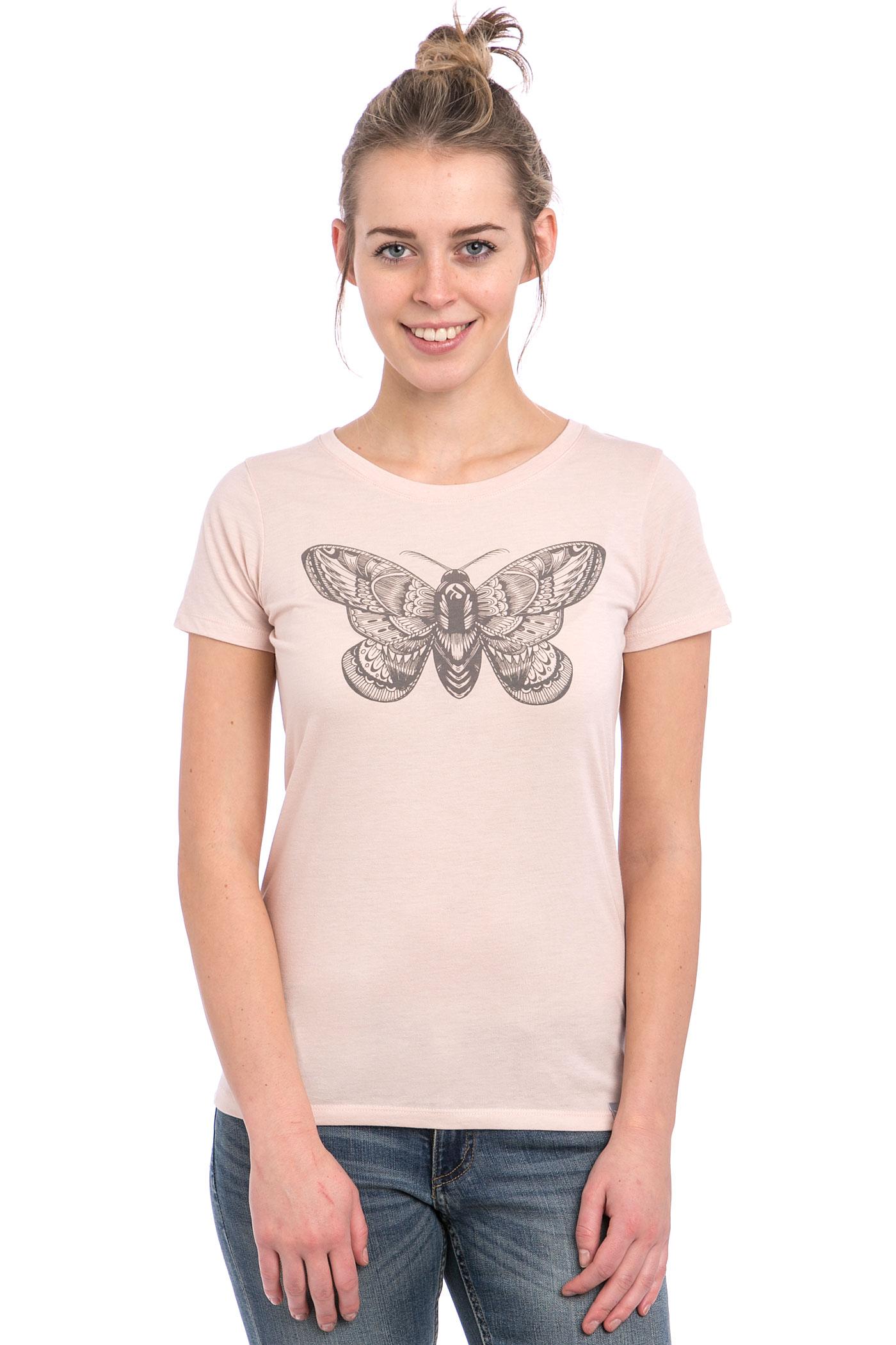 iriedaily nightfly t shirt women rosa melange achetez. Black Bedroom Furniture Sets. Home Design Ideas