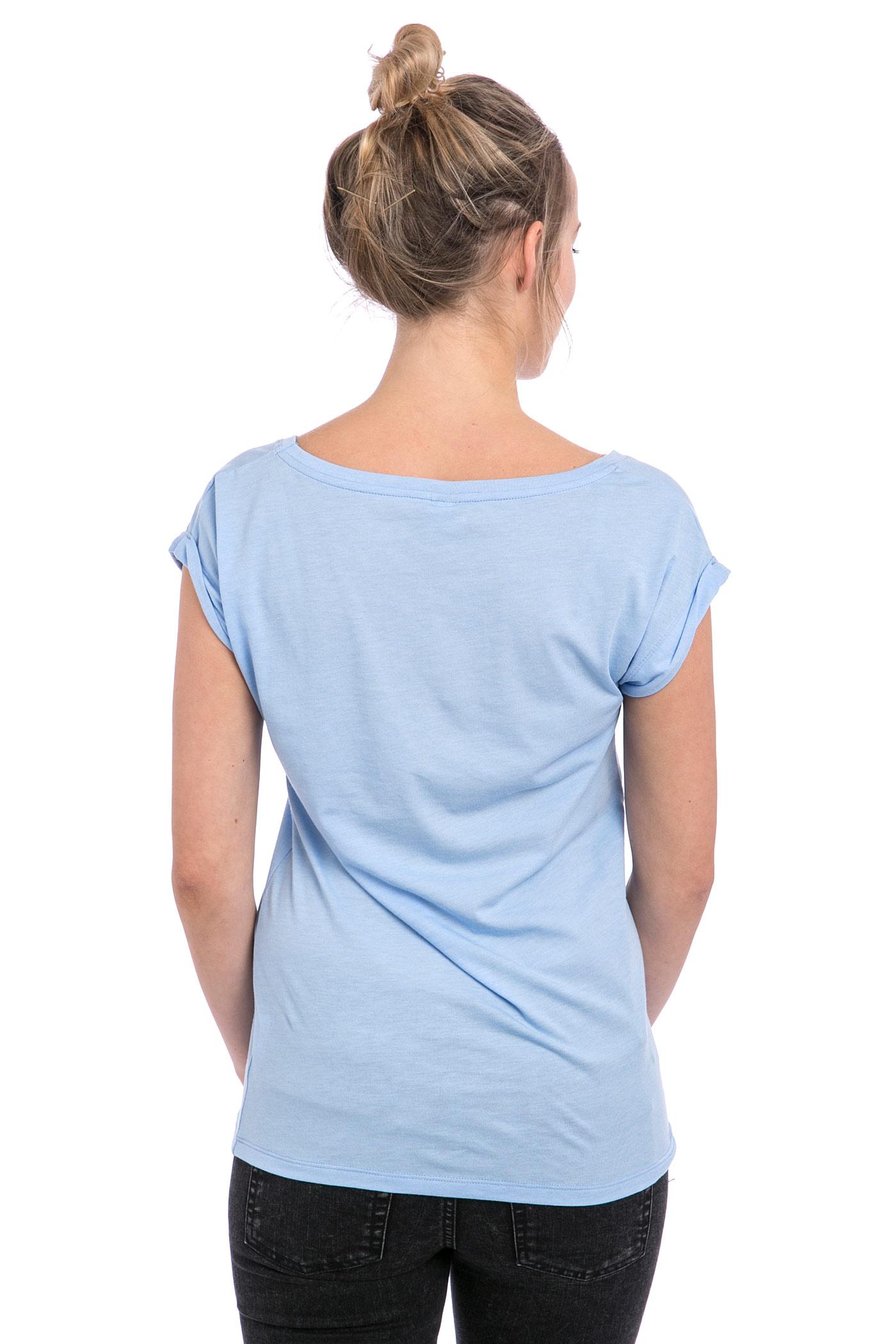 iriedaily pusteblume t shirt women sky blue melange buy. Black Bedroom Furniture Sets. Home Design Ideas
