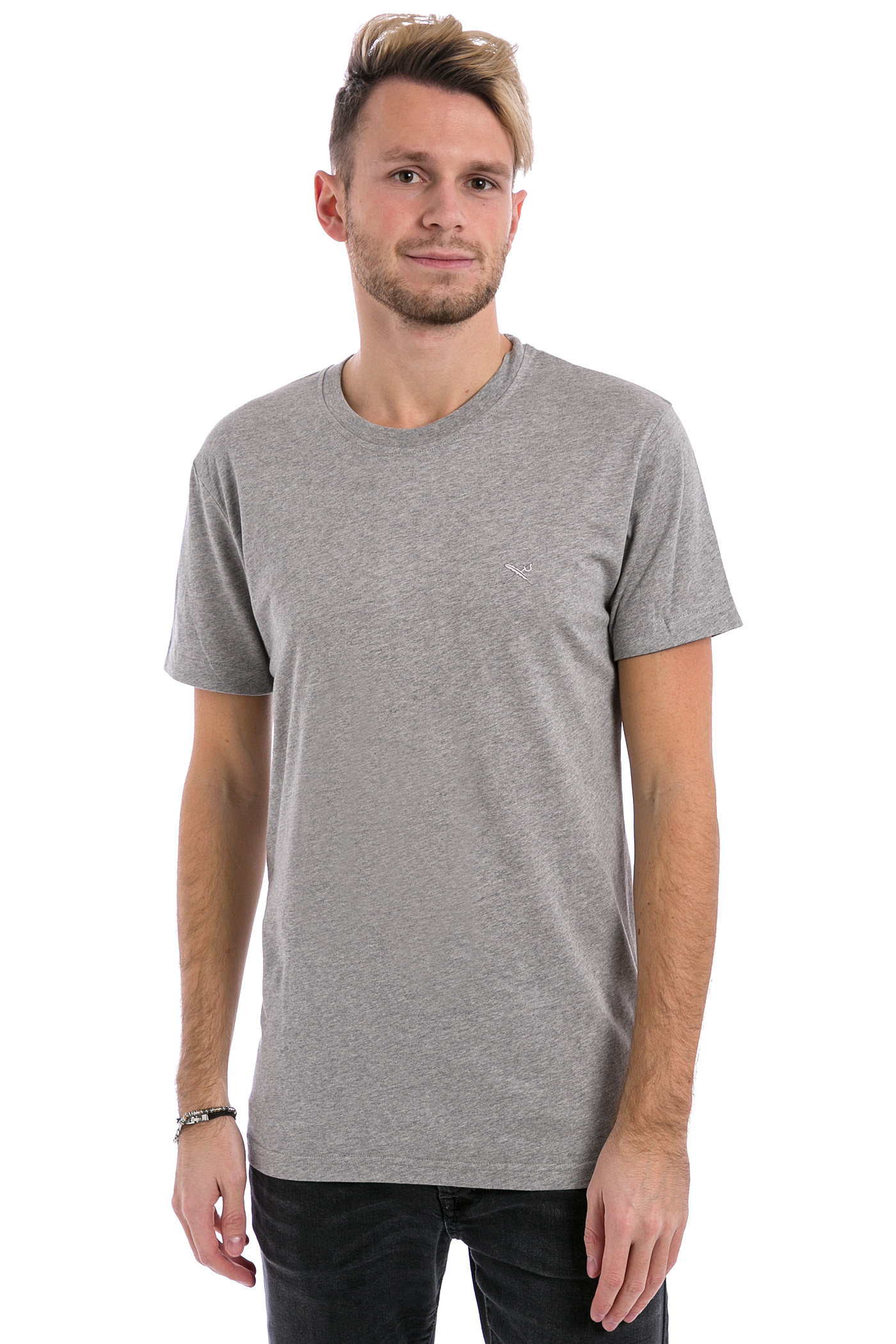 iriedaily turn up t shirt grey melange buy at skatedeluxe. Black Bedroom Furniture Sets. Home Design Ideas