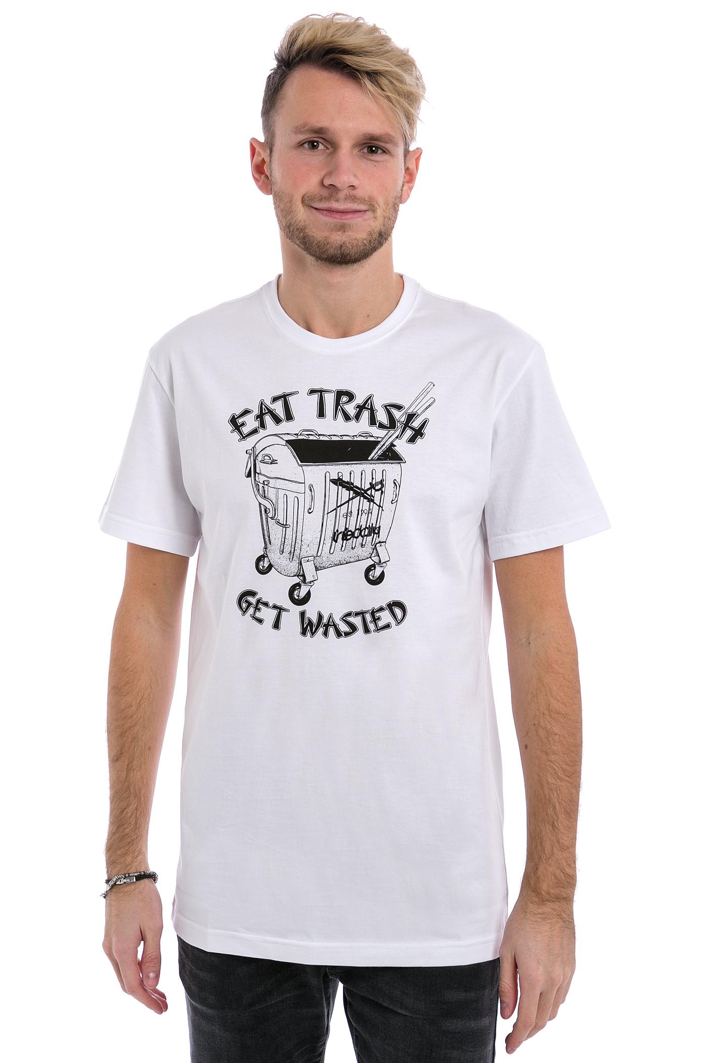 iriedaily eat trash t shirt white kaufen bei skatedeluxe. Black Bedroom Furniture Sets. Home Design Ideas