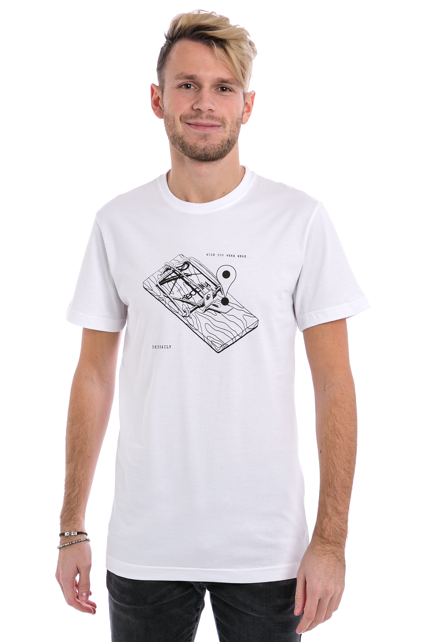 iriedaily trap t shirt white kaufen bei skatedeluxe. Black Bedroom Furniture Sets. Home Design Ideas