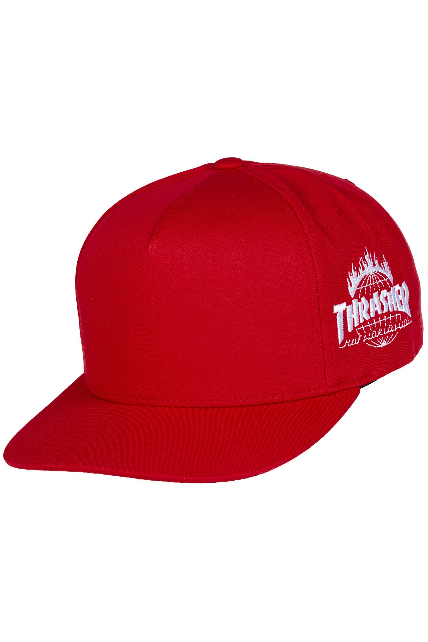 HUF x Thrasher TDS Snapback Cap (red) buy at skatedeluxe 4d835dacf2f1