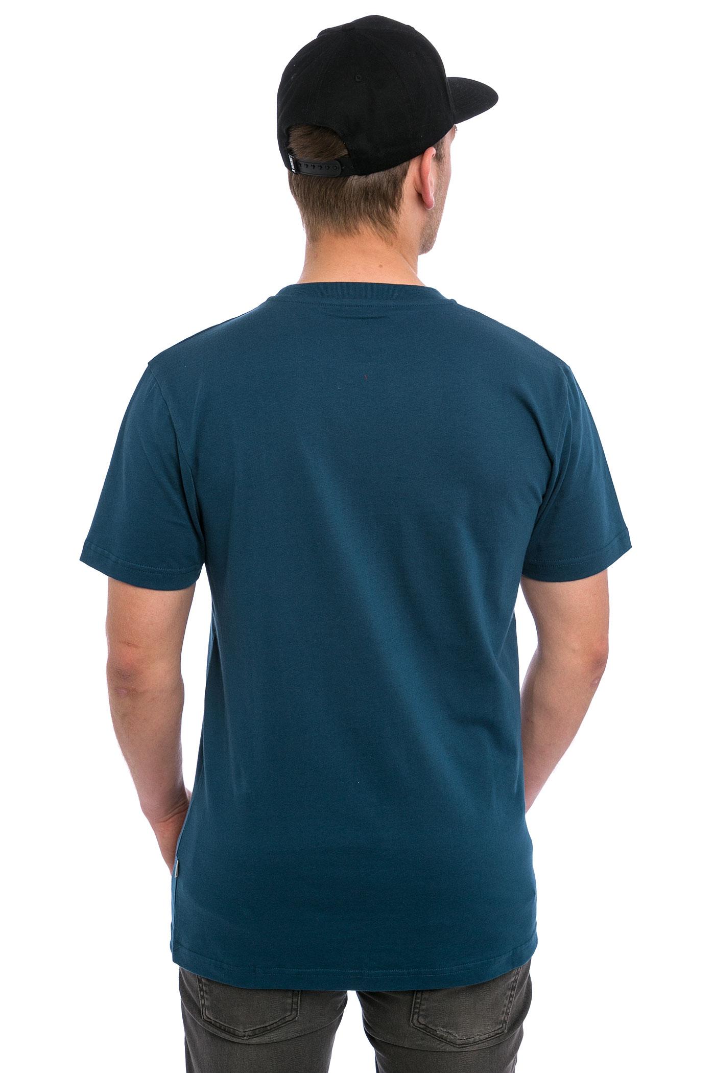 Cleptomanicx big sunrise t shirt blue achetez sur for Big blue t shirts