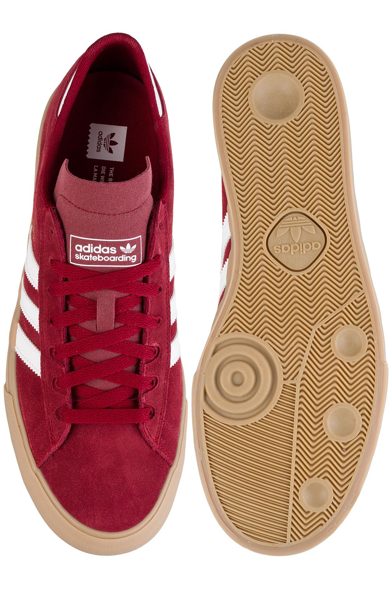 adidas Campus Vulc II ADV Shoe (collegiate burgundy whitee gum) buy ... 4cd15e9e7