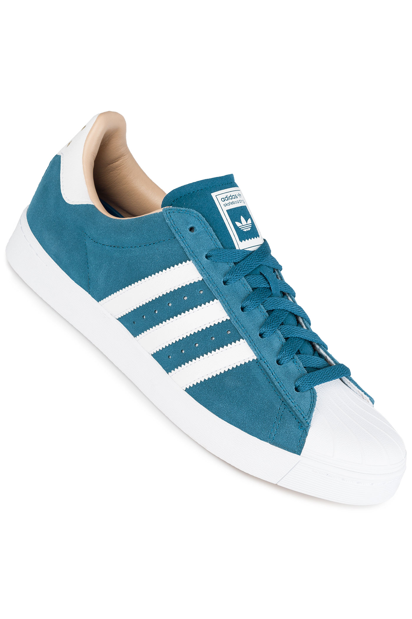 adidas superstar vulc adv schuh core blue white gold. Black Bedroom Furniture Sets. Home Design Ideas