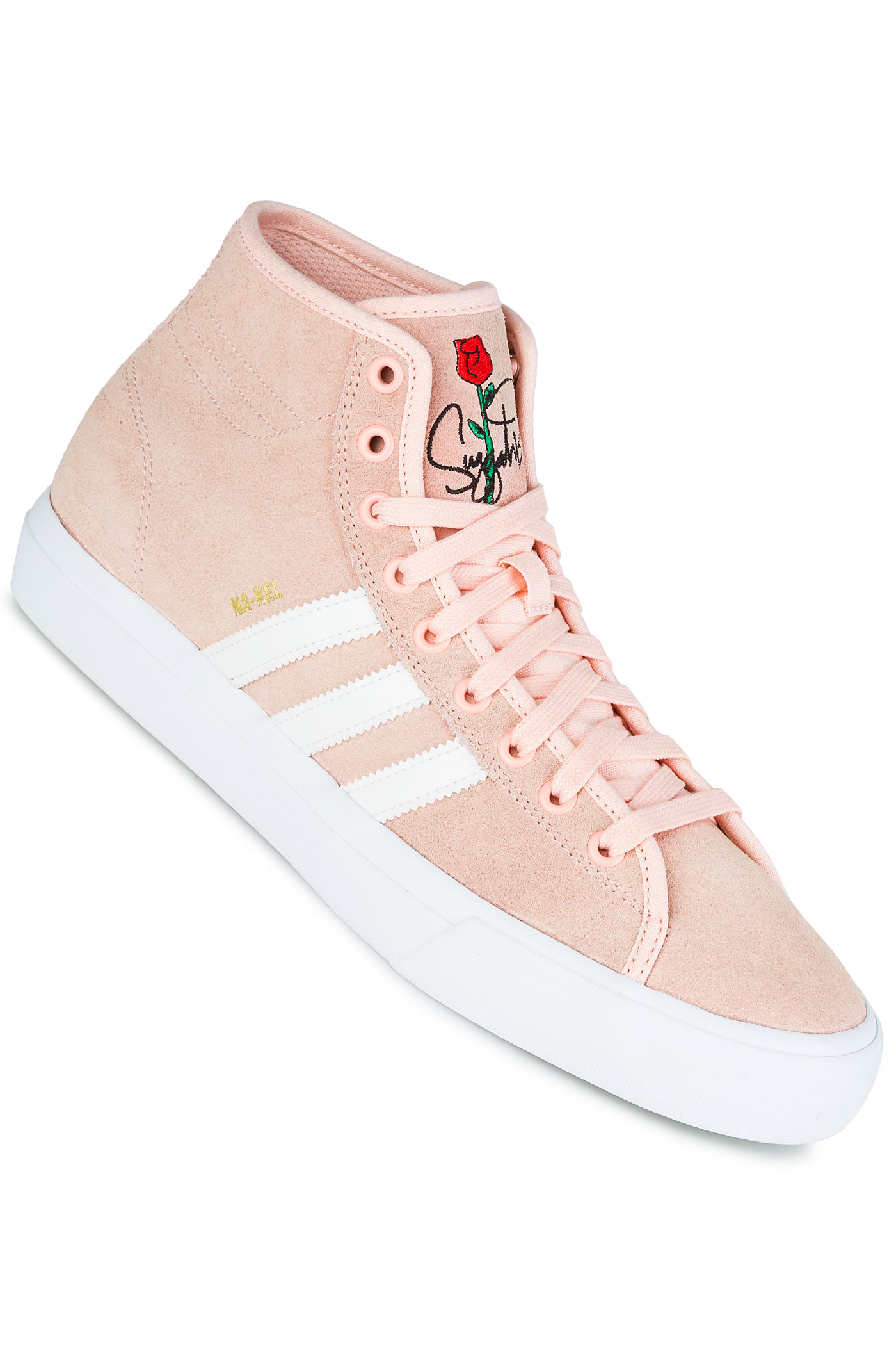 adidas Matchcourt High RX Shoe (haze coral white) buy at skatedeluxe 2482e43be