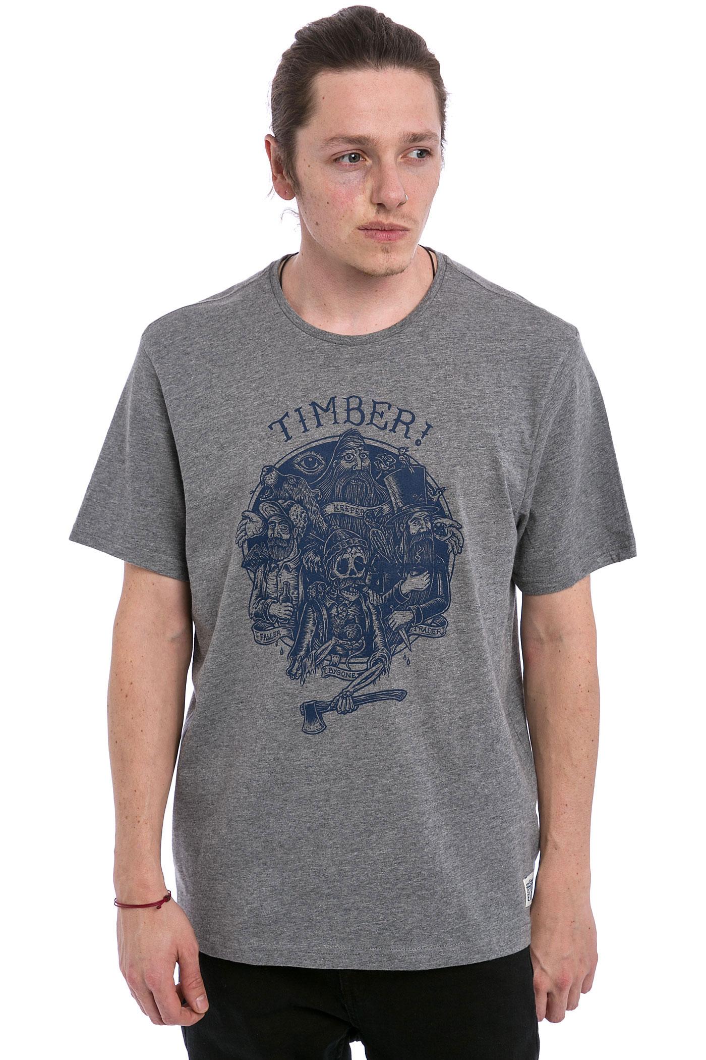 element x timber family t shirt grey heather achetez. Black Bedroom Furniture Sets. Home Design Ideas