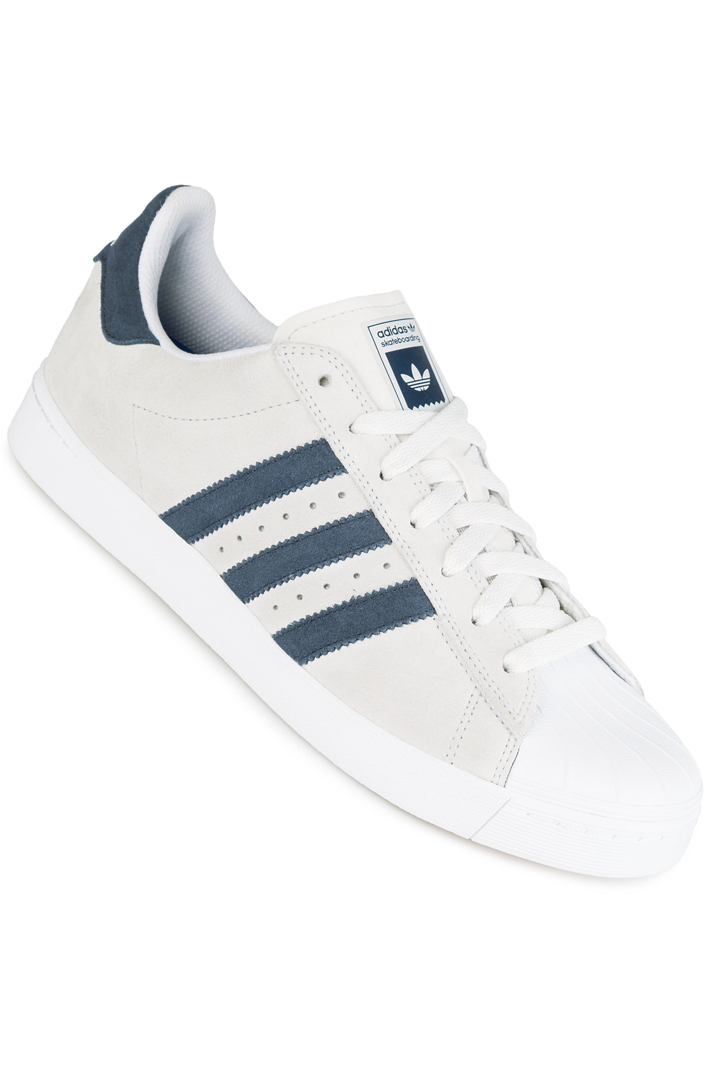 adidas superstar white navy