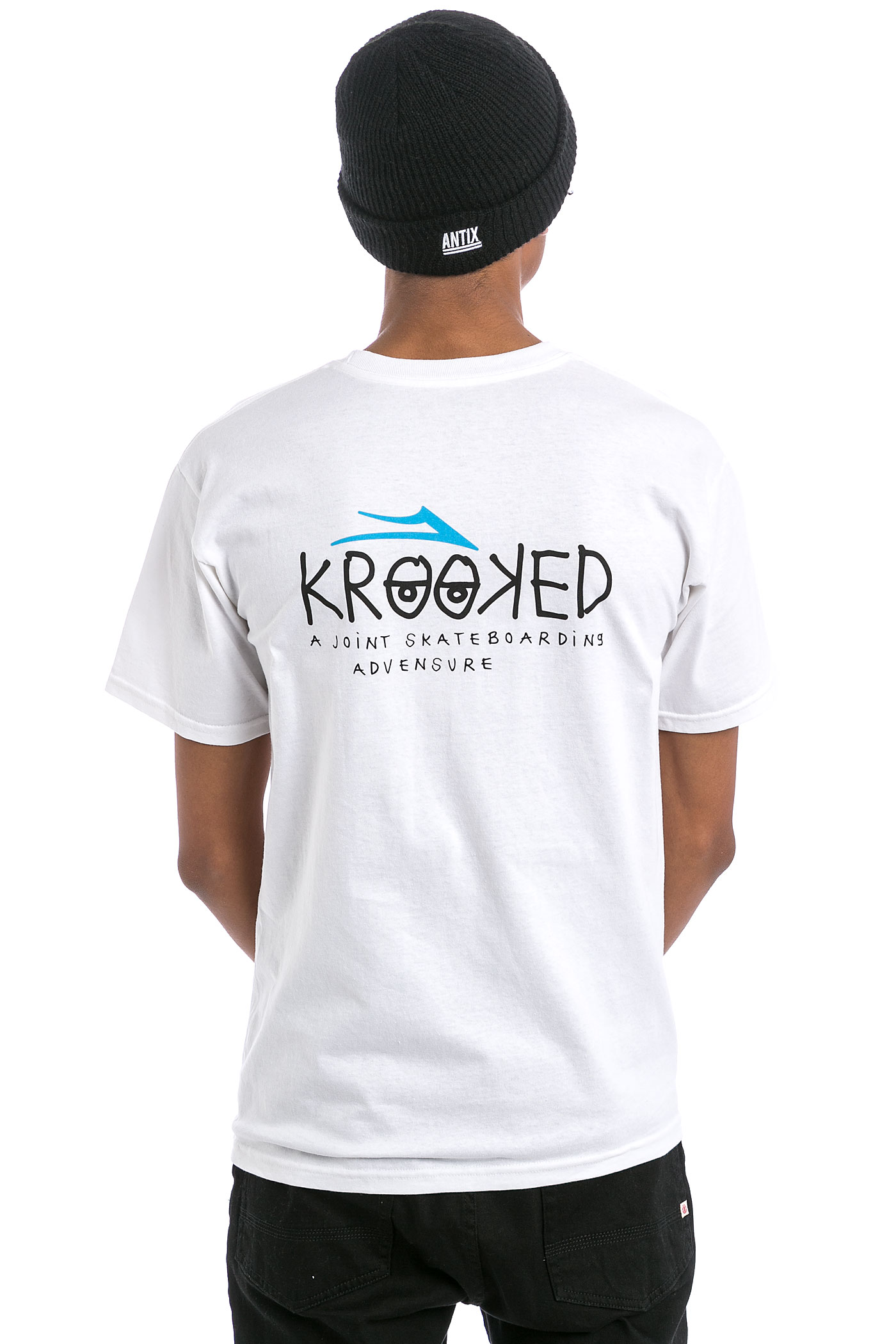lakai x krooked t shirt white kaufen bei skatedeluxe. Black Bedroom Furniture Sets. Home Design Ideas