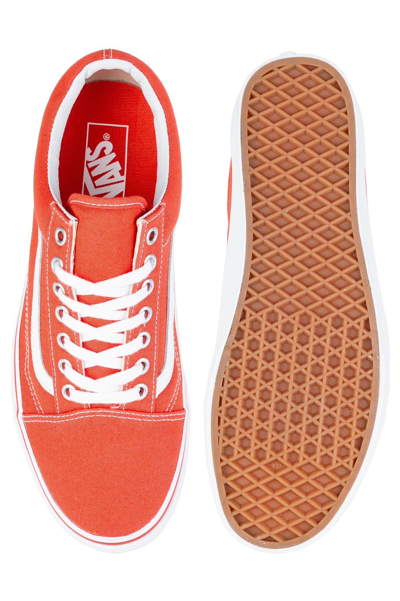 4a2aeeceae Vans Old Skool Shoe (cherry tomato true white) buy at skatedeluxe
