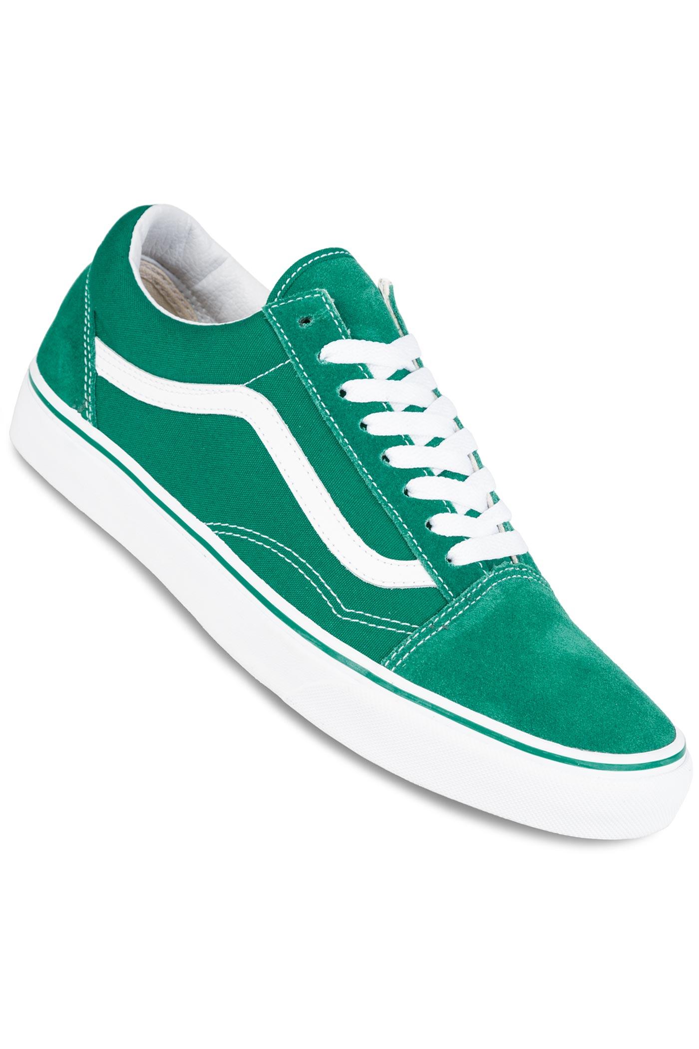vans old skool shoes ultramarine green true white buy at. Black Bedroom Furniture Sets. Home Design Ideas