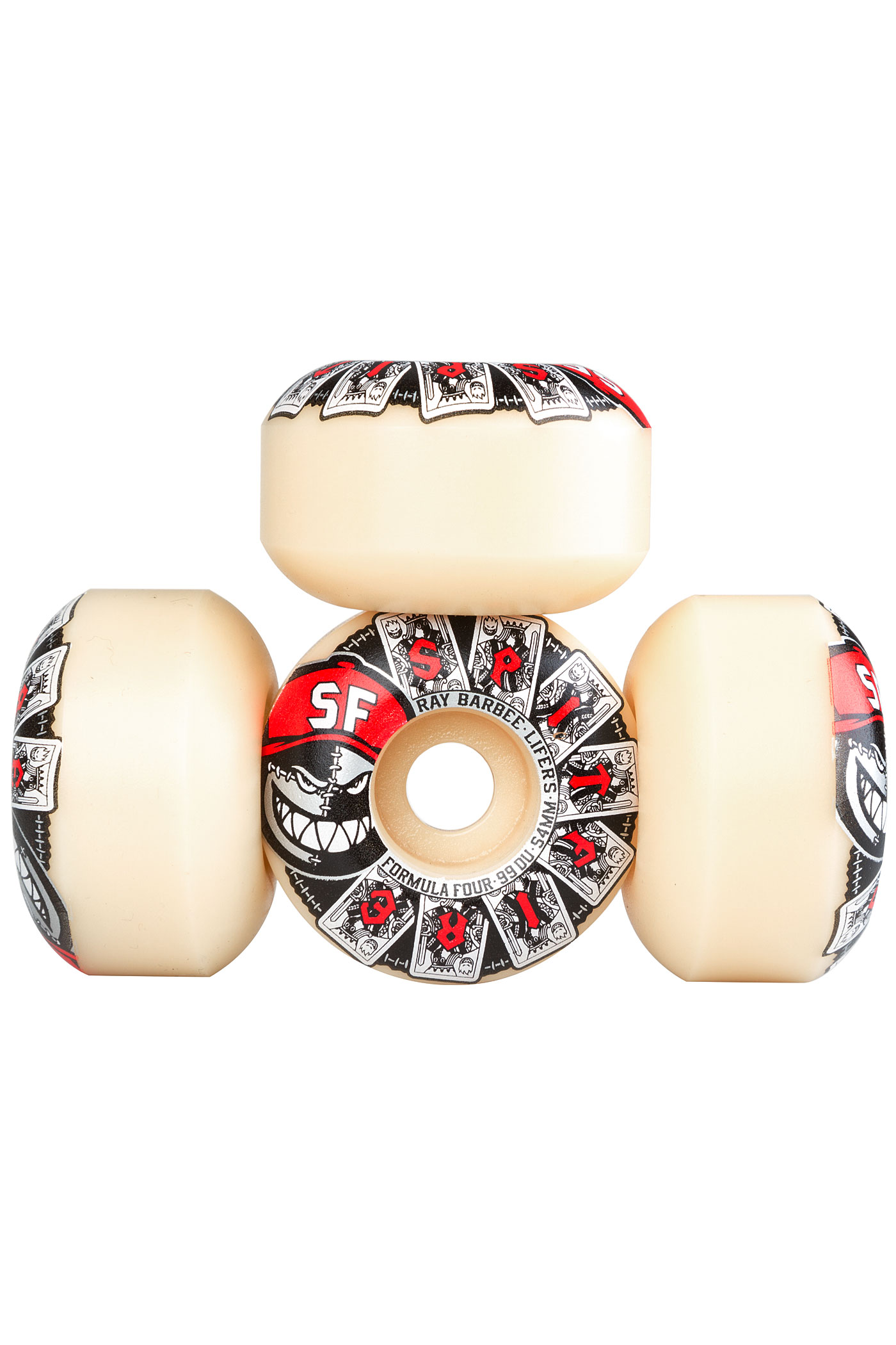 spitfire 54mm. spitfire barbee lifers formula four 54mm wheels (white) 4 pack