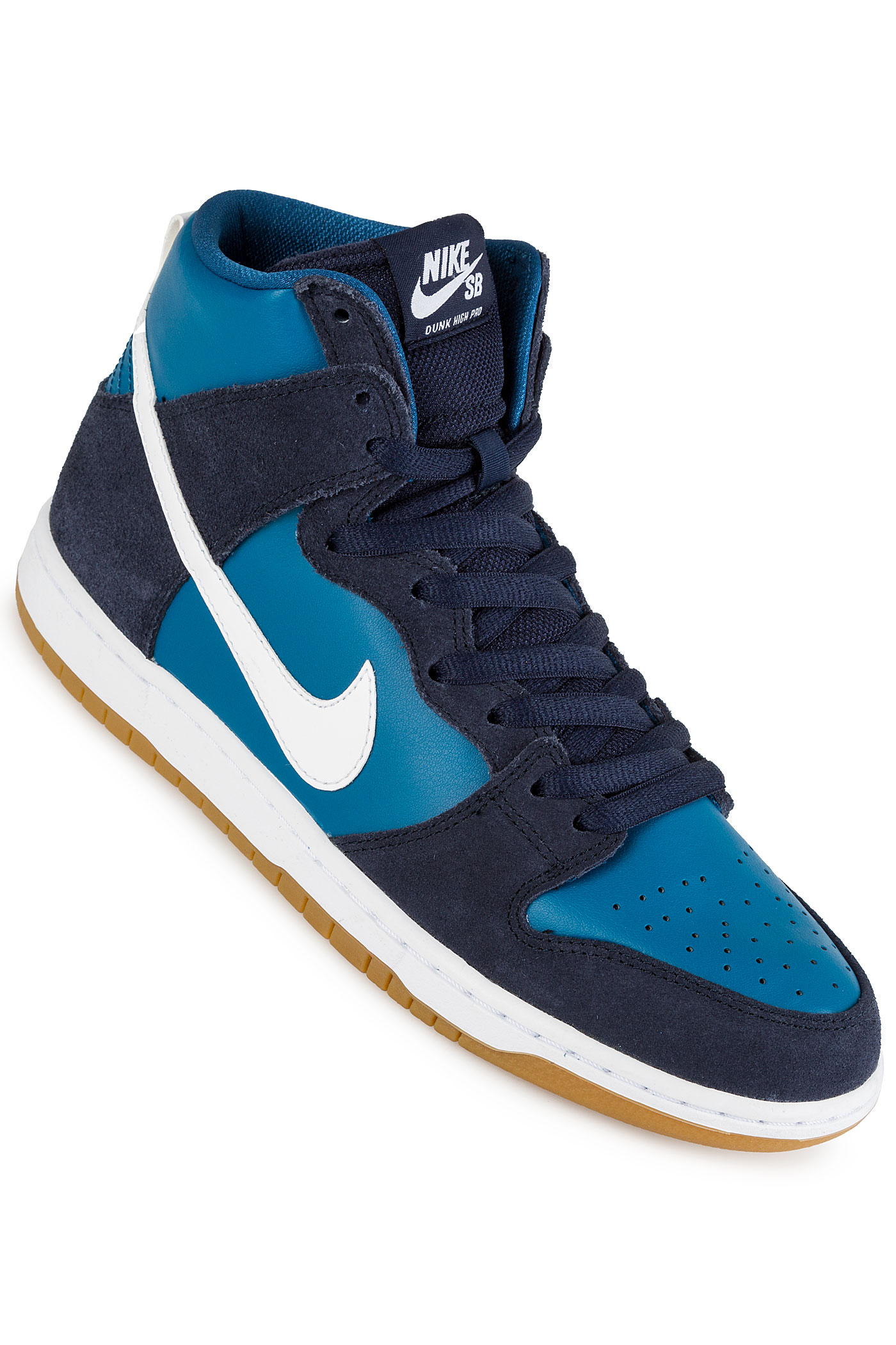 nike sb dunk high pro chaussure obsidian white industrial blue achetez sur skatedeluxe. Black Bedroom Furniture Sets. Home Design Ideas