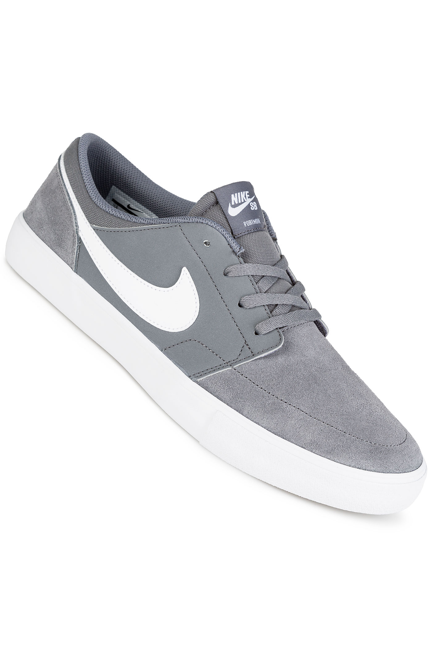 nike sb solarsoft portmore ii zapatilla cool grey white comprar en skatedeluxe. Black Bedroom Furniture Sets. Home Design Ideas