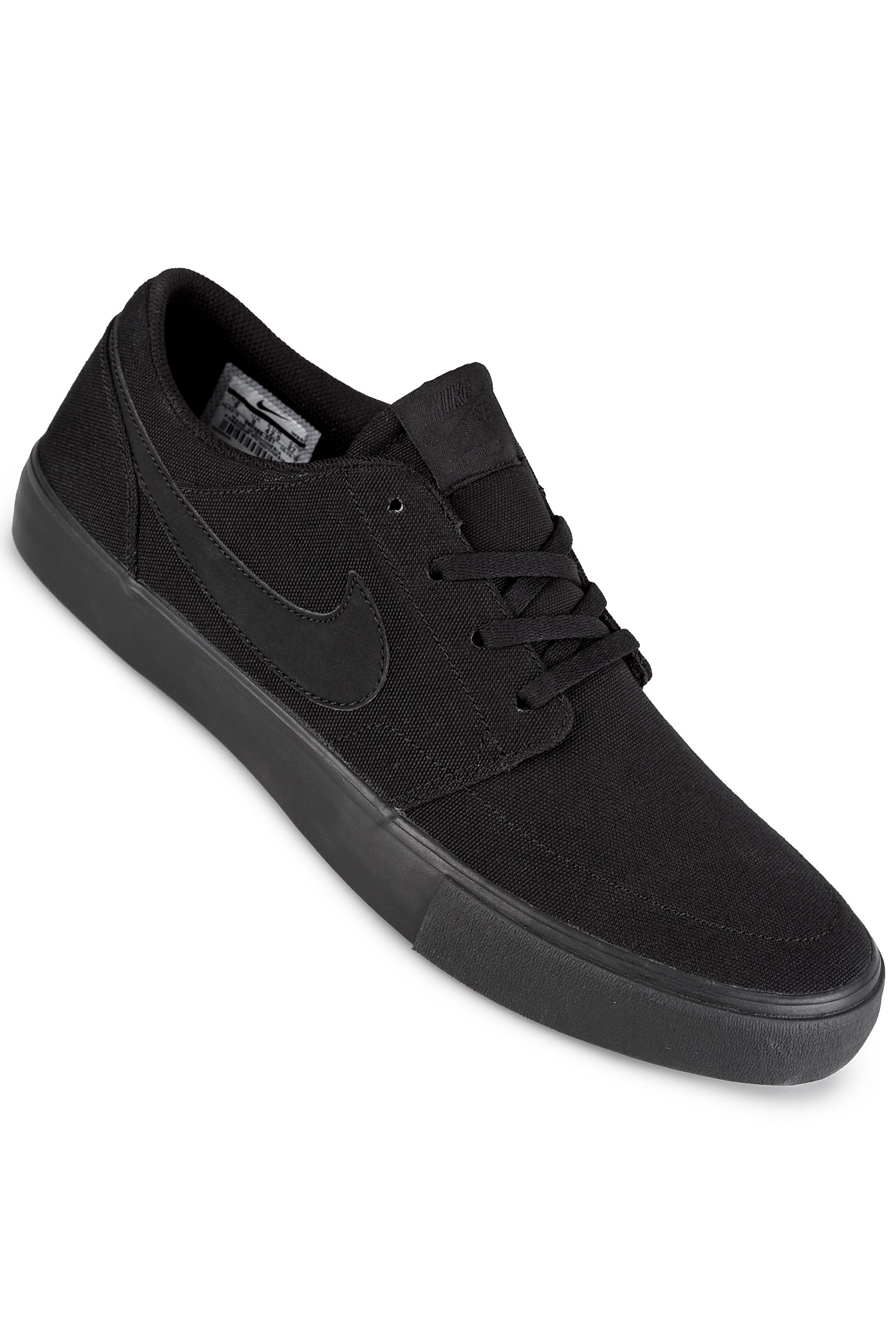 nike sb solarsoft portmore ii canvas schuh black black kaufen bei skatedeluxe. Black Bedroom Furniture Sets. Home Design Ideas