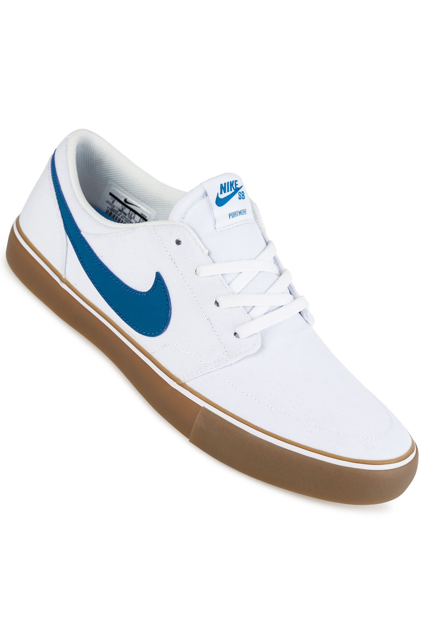 nike sb solarsoft portmore ii canvas shoes white industrial blue buy at skatedeluxe. Black Bedroom Furniture Sets. Home Design Ideas