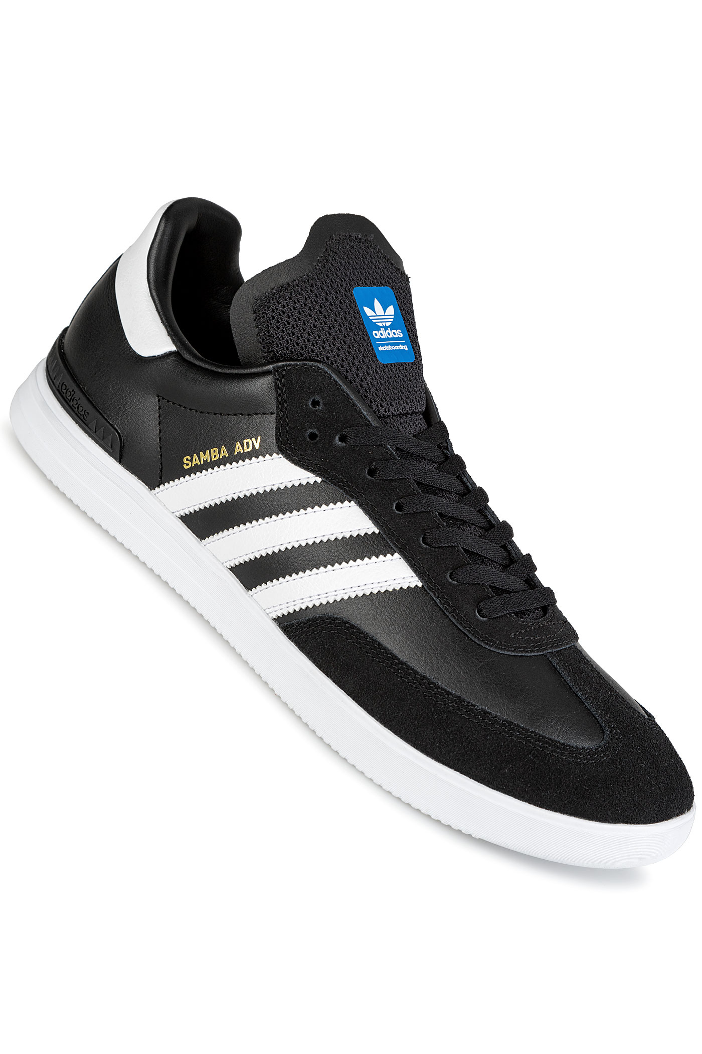 best service 0375c 62322 adidas Skateboarding Samba ADV Shoes (core black white bluebird)