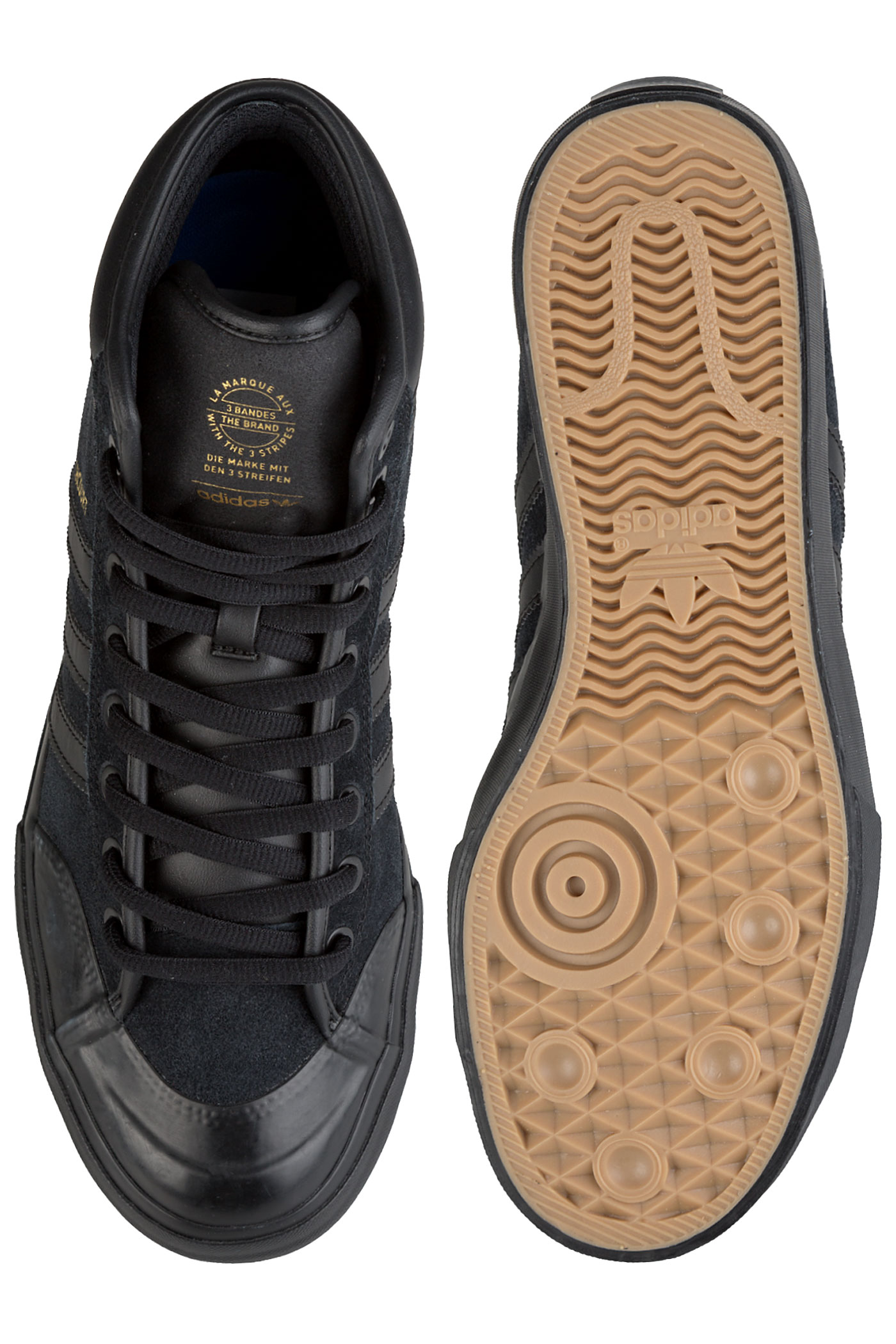 aea86c60715 ... adidas Skateboarding Matchcourt High RX2 Shoes (core black core black  gold) ...