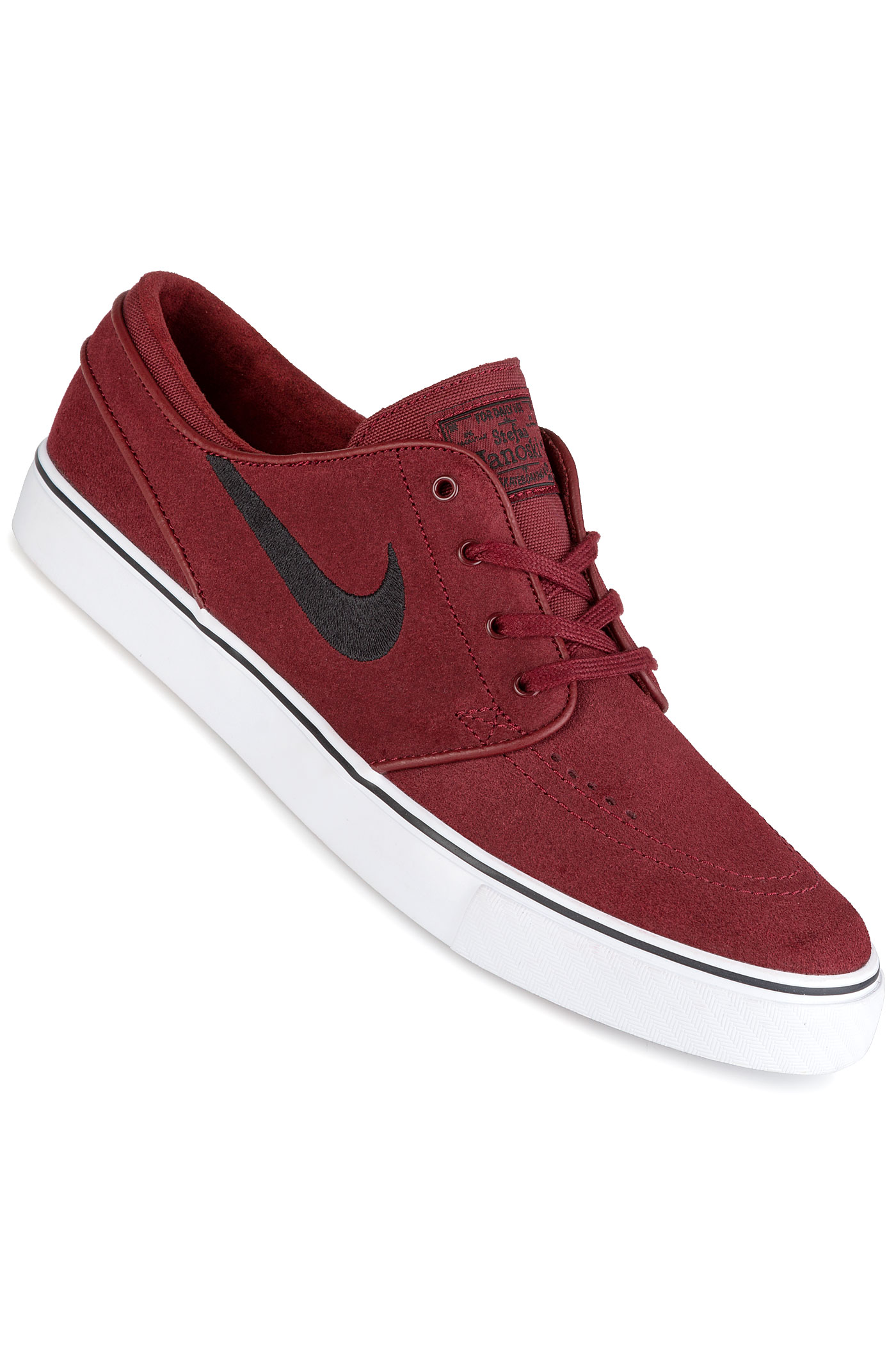 nike sb zoom stefan janoski shoes dark team red black. Black Bedroom Furniture Sets. Home Design Ideas