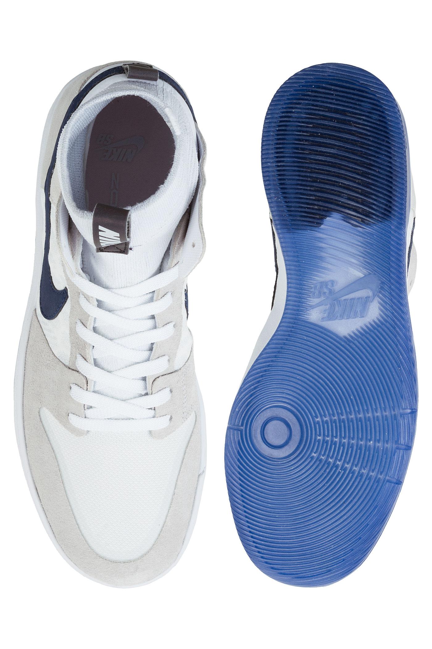 timeless design f9a28 3f005 Nike SB Dunk High Elite Cyrus Bennett QS Shoes (white midnight navy ...