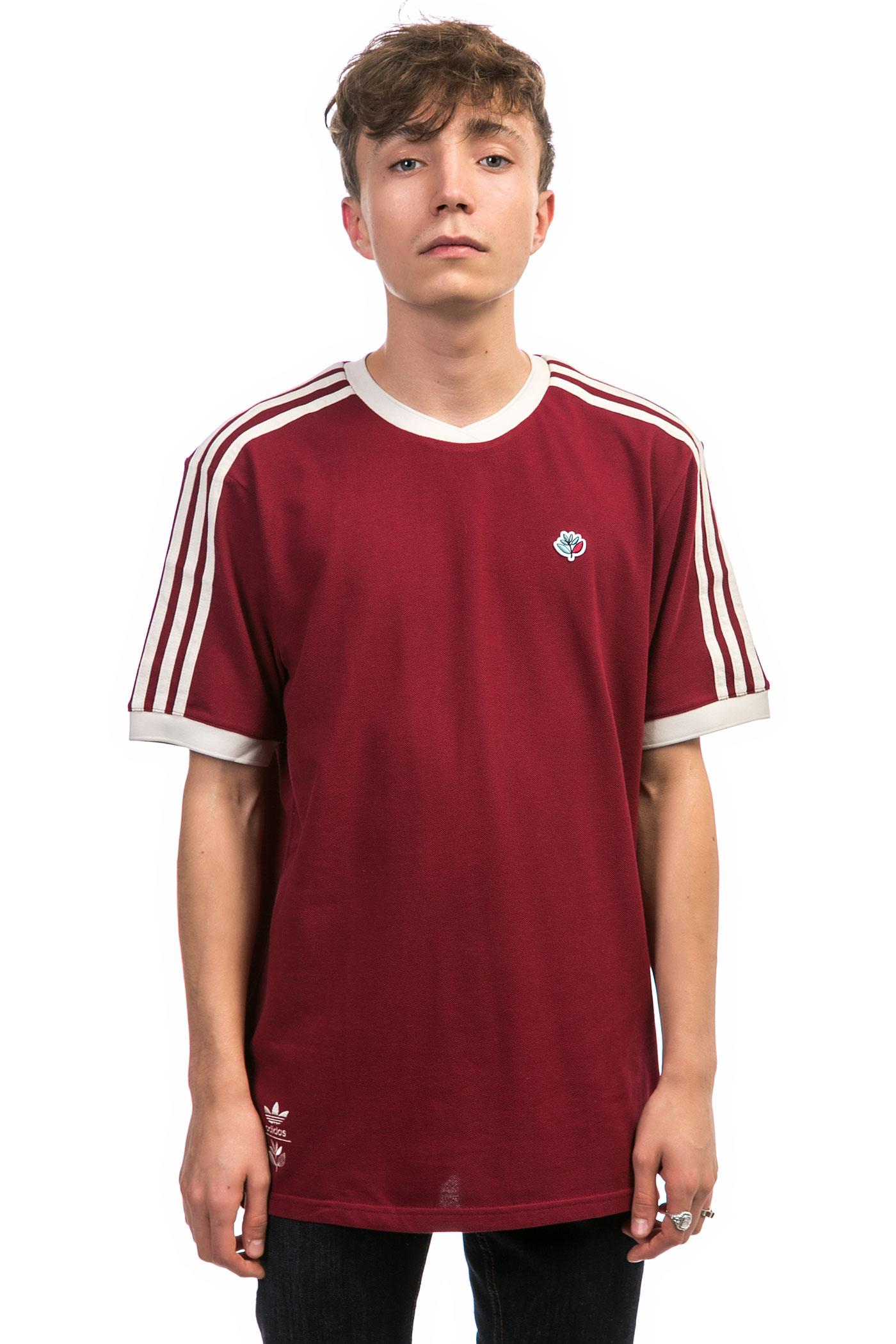 adidas x magenta collab jersey t shirt burgundy brown buy at skatedeluxe. Black Bedroom Furniture Sets. Home Design Ideas