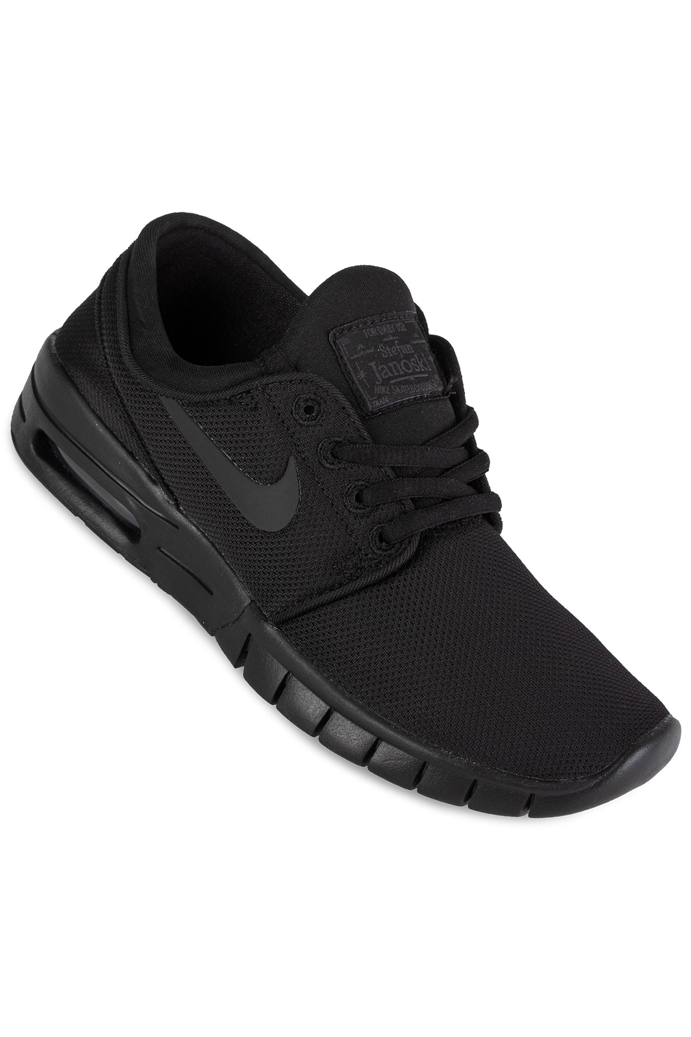 nike sb stefan janoski max chaussure kids black black black achetez sur skatedeluxe. Black Bedroom Furniture Sets. Home Design Ideas