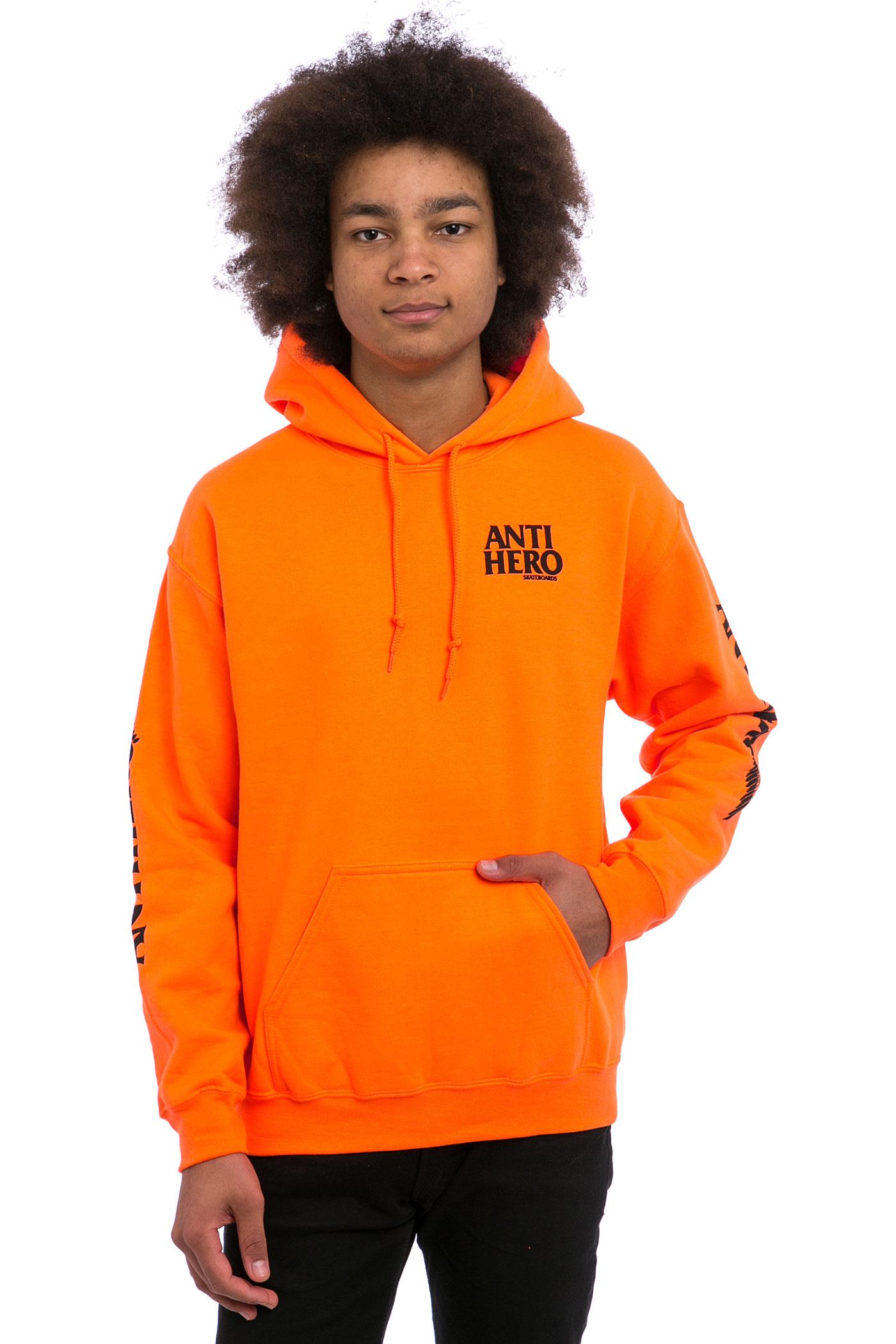 Anti Hero Winghero Hoodie (orange black) buy at skatedeluxe
