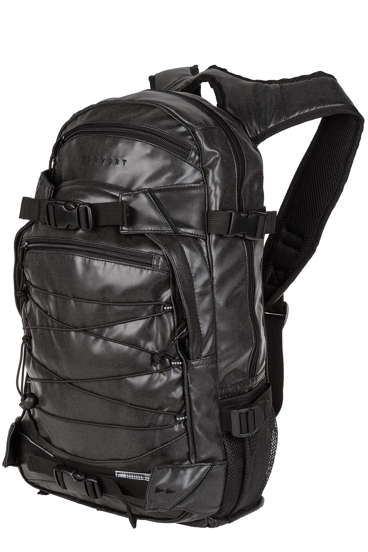 forvert reflective louis backpack 20l black buy at skatedeluxe. Black Bedroom Furniture Sets. Home Design Ideas
