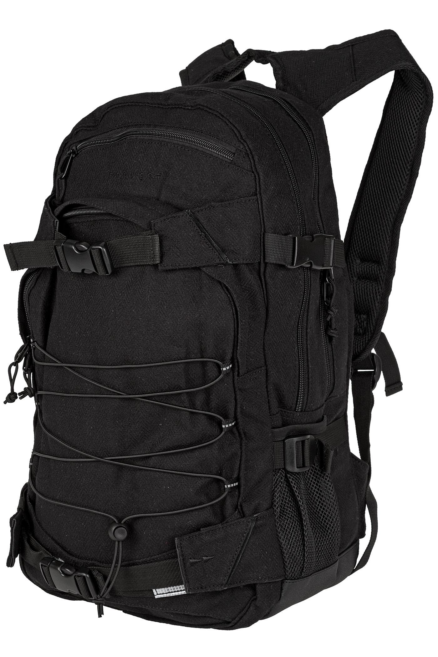 forvert new laptop louis backpack 25l flannel black buy at skatedeluxe. Black Bedroom Furniture Sets. Home Design Ideas