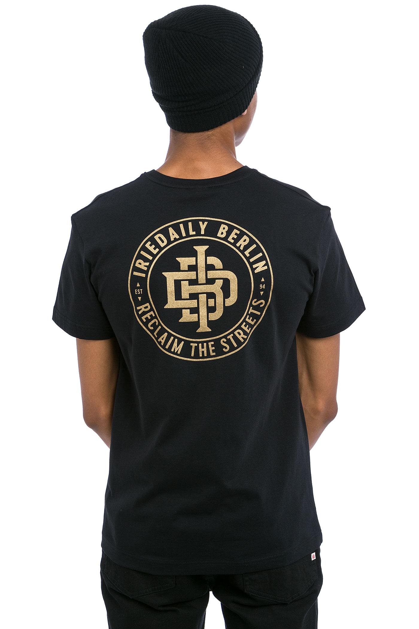 iriedaily reclaim t shirt black buy at skatedeluxe. Black Bedroom Furniture Sets. Home Design Ideas