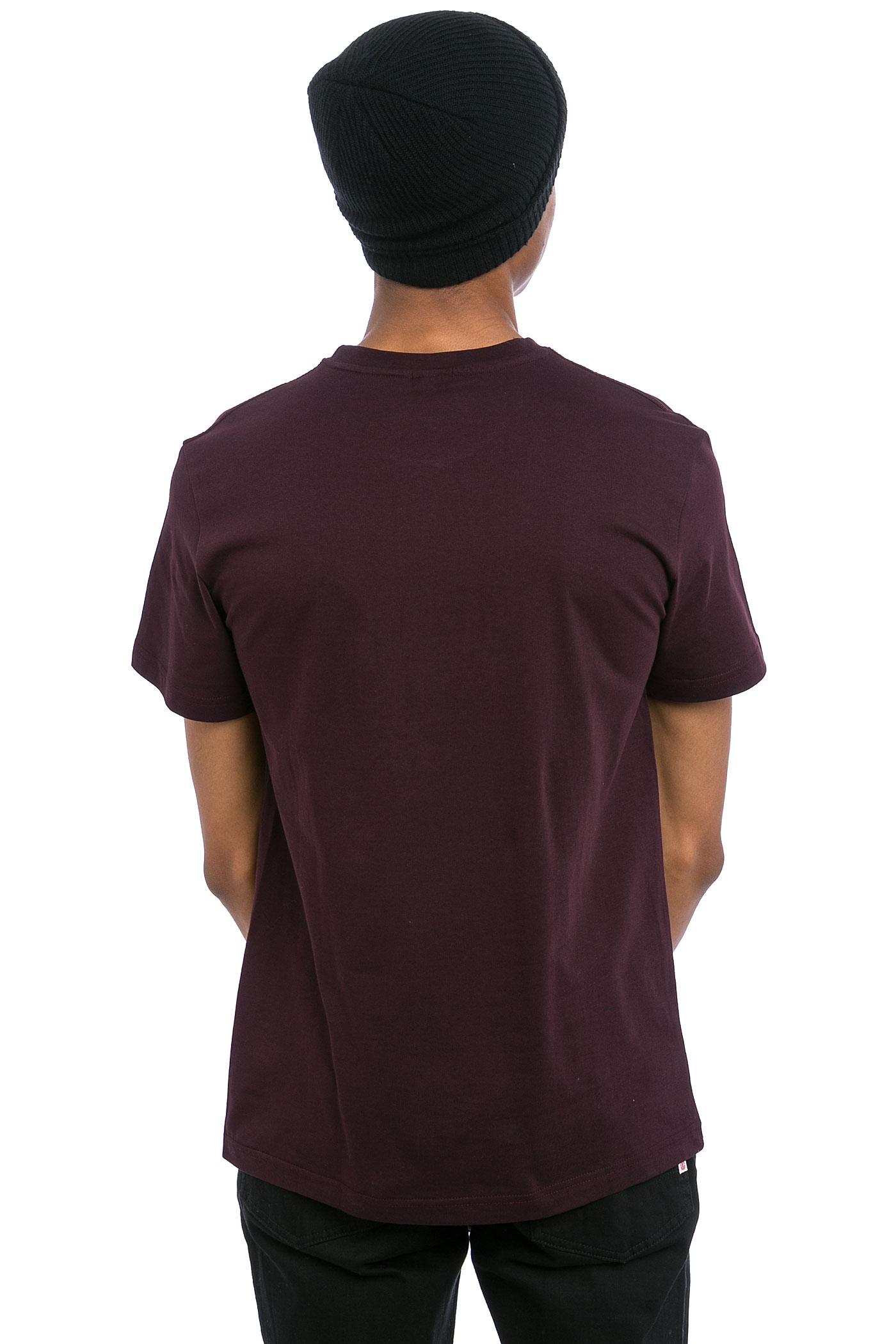iriedaily cobblestone t shirt aubergine buy at skatedeluxe. Black Bedroom Furniture Sets. Home Design Ideas